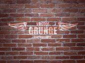 Grunge vector brick texture for label.