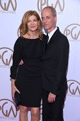 LOS ANGELES - JAN 24:  Rene Russo & Dan Gilroy arrives to the 26th Annual Producers Guild Awards  on January 24, 2015 in Century City, CA