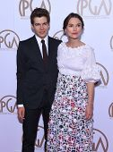 LOS ANGELES - JAN 24:  Keira Knightley & James Righton arrives to the 26th Annual Producers Guild Awards  on January 24, 2015 in Century City, CA