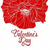 Valentines day design with rose flower.