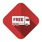 image of free-trade  - free delivery flat icon transport sign  - JPG