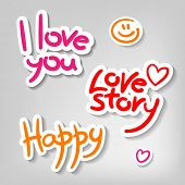 sample text - I love you, love story, happy - design templates