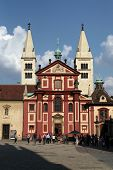 PRAGUE, CZECH REPUBLIC - SEPTEMBER 6, 2014: Saint George Basilica at the Prague Castle in Prague, Czech Republic.