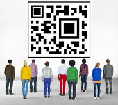 QR Code Data Marketing Identity Concept