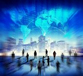Global Business Group of People Building Finance Teamwork Stock Exchange Concept