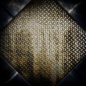 stock photo of rhombus  - rhombus diamond plate background - JPG