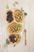 picture of kalamata olives  - Variety of green - JPG