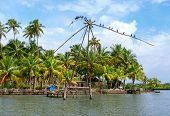 fishing net in Kerala, India