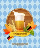 image of pretzels  - Poster with mug of beer - JPG