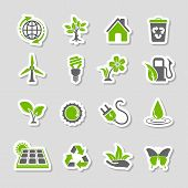 Environment Icons Sticker Set
