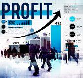 pic of accumulative  - Profit Finance Data Analysis Money Accumulation Concept - JPG
