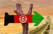 pic of civil war flags  - Afghanistan Flag wooden sign with desert background - JPG