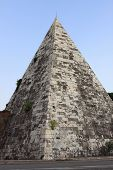 pic of the great pyramids  - Landscape view of the Cestia Pyramid in Rome - JPG