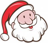 picture of nicholas  - Illustration of santa claus saint nicholas father christmas head smiling set on isolated white background done in cartoon style - JPG