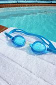 Swimming Goggles On A Poolside