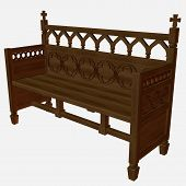 Medieval Bench poster
