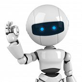picture of robot  - Funny white robot stay - JPG