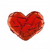 Постер, плакат: Сломанной Красное сердце