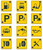picture of vacuum pump  - Set of the roadside services related signs - JPG