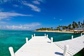 White Jetty Tropical Island