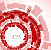 Abstract red technical background with place for your text
