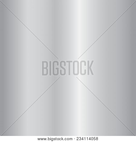 poster of Silver Gradient Background. Silver Design Texture For Ribbon, Frame, Banner. Abstract Silver Gradien
