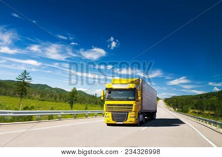 Yellow Truck On A Road