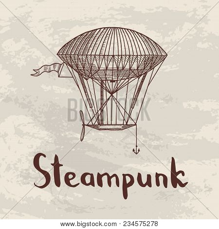 Vector Background With Steampunk Hand