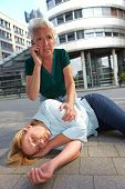 Senior Woman Making Emergency Call