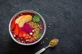 Acai And Fruits Smoothie Bowl poster