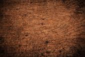 Old Grunge Dark Textured Wooden Background,the Surface Of The Old Brown Wood Texture,top View Brown  poster