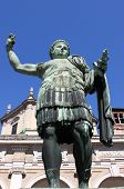 stock photo of tyranny  - Statue of emperor Constantine in front St - JPG
