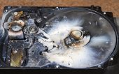 Destroyed Hard Drive