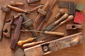 Ferramentas para trabalhar madeira vintage