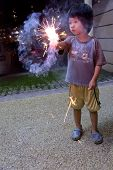 Boy With Fire Crackers