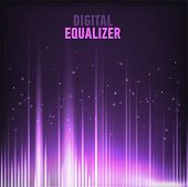 Vector Image Of Multi Color Audio Waveform Technology Background Digital Equalizer Technology Abstra poster