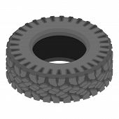 Motoring Tyre Icon. Isometric Illustration Of Motoring Tyre Vector Icon For Web poster