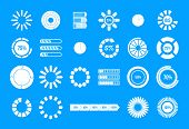Loading Icon Set. Simple Set Of Loading Vector Icons For Web Design Isolated On Blue Background poster