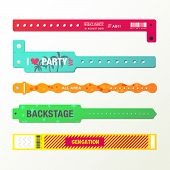 Plastic Event Access Bracelets, Wristlet For Party Entrance Or Wristband For Concert Backstage Ident poster