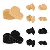 Box, Container, Package, And Other  Icon In Cartoon, Black Style.case, Shell, Framework Icons In Set poster