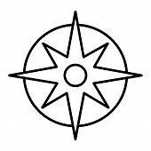 Compass Linear Icon. Pocket Compass Thin Line Illustration. Navigation And Orientation Instrument. C poster