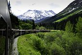 Train From White Pass To Skagway Alaska
