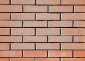 Red, Orange Brick Wall As A Texture Or For Background. Reliable Red Brick Wall. Strong Brickwork. Pr poster