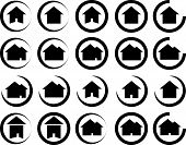 Real Estate / House Symbols - Vector Illustration