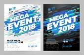 Vector Layout Design Template For Mega Event Sport Event. poster