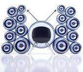 Sphere style TV and loudspeakers