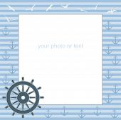 Frame For Text Or Photo From The Steering Wheel