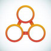 Empty color circle marketing flowchart