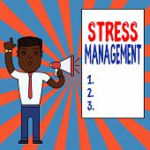 Text Sign Showing Stress Management. Conceptual Photo Method Of Limiting Stress And Its Effects By L poster