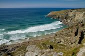 Treknow beach near Tintagel Cornwall